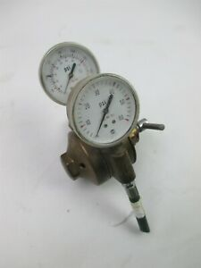 Airco Dual Gauge Compressed Gas Regulator Max Inlet Pressure 3000 Psi