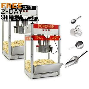 Olde Midway Commercial Popcorn Machine Maker Popper With Large 12 ounce Kettle