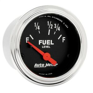 Autometer 2515 Traditional Chrome Electric Fuel Level Gauge