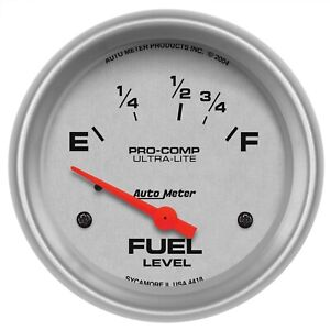 Autometer 4418 Ultra lite Electric Fuel Level Gauge