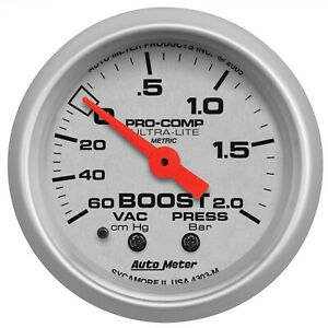 Autometer 4303 M Ultra Lite Mechanical Boost Vacuum Gauge