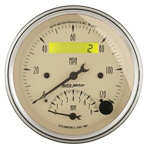 Autometer 1881 Antique Beige Tach Speedo Combo