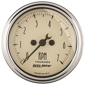 Autometer 1897 Antique Beige Electric Tachometer