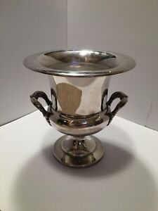Vintage Epca Bristol Silver By Poole Silver Plate Champaign Bucket