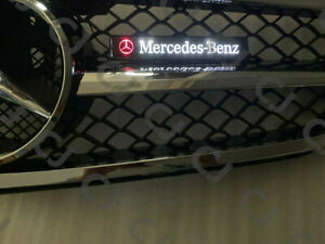 Led Star Logo Front Grille Badge Illuminated Decal Emblem For Mercedes Benz