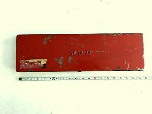 Vintage 1948 Snap on Tools Metal Tool Box Kr 281 For 3 8 Dr Socket Set