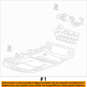 Ford Oem 17 18 F 250 Super Duty overhead Roof Console Hc3z28519a58jbe