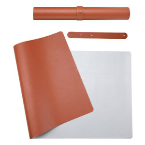 Desk Pad Office Mat 31 5 X 15 7 Pu Leather Blotter Laptop Brown 31 5 x15 7