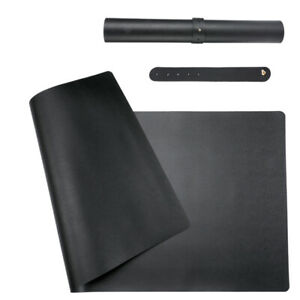 Waterproof Desk Pad 31 5 X 15 7 Large Rectangular Leather Laptop Desk Mat Black