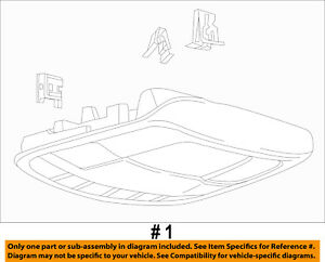 Ford Oem 17 18 F 250 Super Duty overhead Roof Console Hc3z28519a58ea