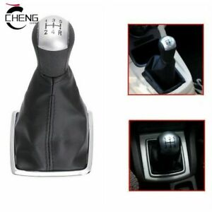 5speed Gear Shift Knob Stick Gaiter Boot Cover For Ford Focus Mondeo Mk3 Mustang
