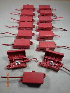 Red 3 8 Stud Dual Terminal Block Covered Lid Battery Junction Box Distribution