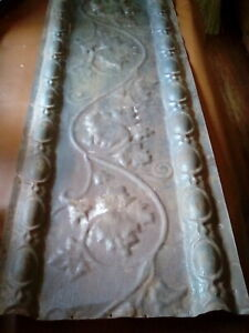 Antique Architectural Salvaged Ceiling Tins Earley 1900 S 16 X 42 Inches Dark