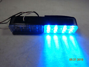 Code 3 Police Fire Exterior Emerg Warning Led Light T07945 Double Bar Red blue