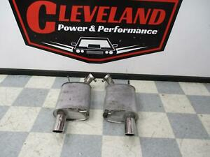 2011 2014 Ford Mustang Gt Oem Stock Left Right Rear Exhaust Mufflers W Tip