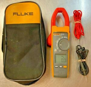 Fluke 374fc Trms Ac dc Digital Clamp Meter With Original Soft Case And Leads gc