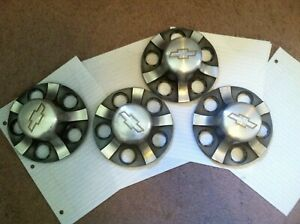 Set Of 4 S10 Sonoma Factory Alloy Center Caps Off Of A 1998 Truck In Good Cond
