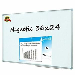 Lockways Magnetic Dry Erase Board Magnetic Whiteboard white Board 36 X 24 Inch