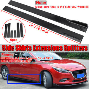 For Mazda 3 Axela 6 Atenza Cx 4 Cx 5 Mx 5 Rx 8 Side Skirts Extension Splitters