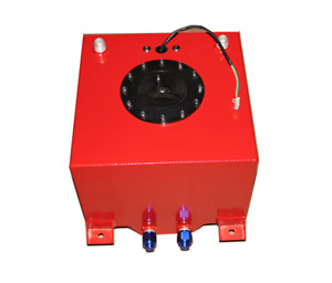 Aluminum 5 Gallon Red Coated Racing Fuel Cell Gas Tank Level Sender