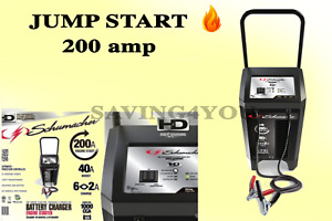 Battery Charger Electric Wheel 200 Amp Jump Start Car Automotive Dead Portable