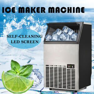 45 60kg Commercial Ice Maker Stainless Steel Restaurant Ice Cube Machine