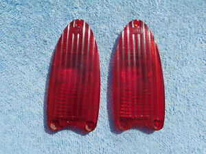 1953 Dodge Tailight Tail Light Lenes Pair Early Year