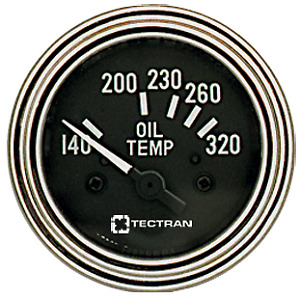 Gauge Elec Oil Temp Black pack Of 1