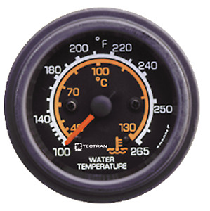 Gauge Elec Water Temp Black pack Of 1