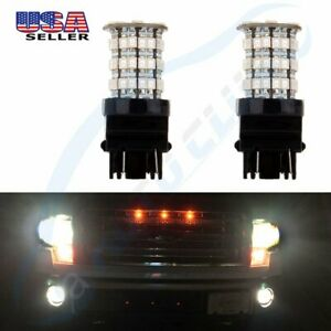 2x High Power 3157 Cree Led 60 Smd Us Drl Red Color Bulb Light 40w