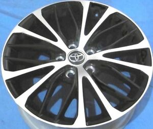 18 Toyota Camry 2019 Oe Alloy Wheels 4 18x8 5x114 3 Machine Black Oem Rims