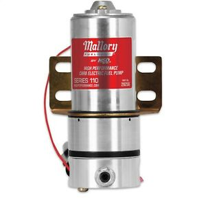 Msd Mallory 29256 110gph High Performance Electric Fuel Pump Fr