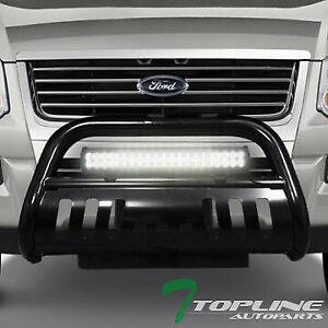 Topline For 2006 2010 Ford Explorer Blk Bull Guard With 120w Cree Led Light Bar