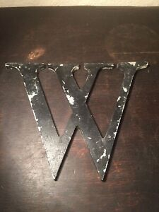 Vintage Letter W Architectural Salvage Metal Signage Letters Sign