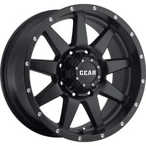 4 17x9 Black Gear Alloy Overdrive 728 6x5 5 18 Nitto Trail Grappler 295 70r17