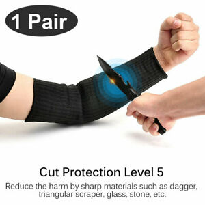 1 Pair Cut Proof Cut resistant Sleeve Gloves Outdoor Work Safety Protective Arm