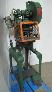 Benchmaster 5 Ton Obi Punch Press Model 152e Single Phase On Stand Made In Usa