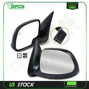 Chrome Heated Power Side View Mirrors Left Right Pair Set Fits Chevy Gmc Truck