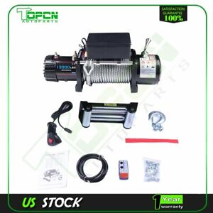 Electric Recovery Winch 13000lbs Truck Trailer 85ft Steel Cable For 02 10 Hummer
