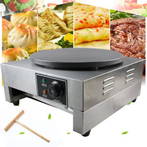Electric Crepe Maker Pizza Pancake Baker Griddle Hot Plate Cooktop Round 16 3kw