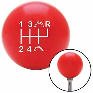6 Speed Red County Prison Shifter Shift Knob For 1993 2002 Camaro