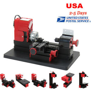 6pcs Kit Diy Drilling Milling Grinder Sawing Metal Lathe Machine Fast Shipping