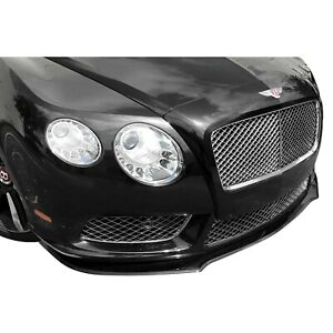For Bentley Continental 12 15 Front Bumper Lip Spoiler Luxe gt Style Carbon