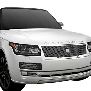 For Land Rover Range Rover 13 16 Grille Kit 3 Pc Luxury Series Chrome Dual Weave