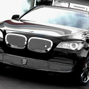 For Bmw 740i 12 13 Grille Kit 3 Pc Luxury Series Chrome Dual Weave Mesh Main