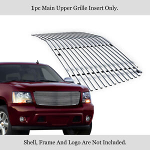 Fits 2007 2013 Chevy Avalanche 07 14 Tahoe Main Upper Chrome Billet Grille