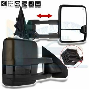 Power Heated Side Signal Towing Mirrors Pair For 2014 2018 Chevy Gmc 1500