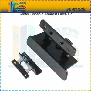 For 07 13 Chevy Silverado Gmc Tahoe Yukonblack Center Console Armrest Latch Lid