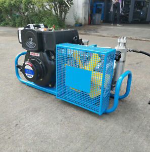 High Pressure Air Compressor Hailin Diesel Engine 100l min Air Cooled 4500psi