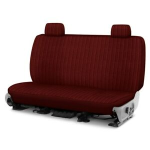For Dodge Ram 1500 Van 95 96 Duramax Tweed 2nd Row Maroon Custom Seat Covers